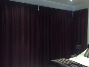 Blacout curtains installed by Laskeys