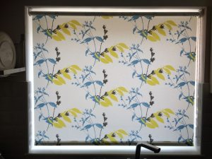 Floral blind fitted by Laskeys