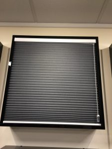 Bespoke black Blinds from blind and curtain company in Tewkesbury