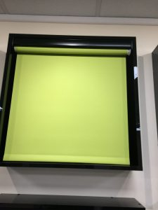 Bespoke green Blinds from blind and curtain company in Tewkesbury