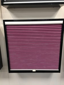 Bespoke purple Blinds from blind and curtain company in Tewkesbury