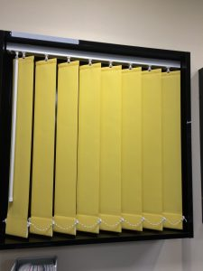 Bespoke yellow Blinds from blind and curtain company in Tewkesbury
