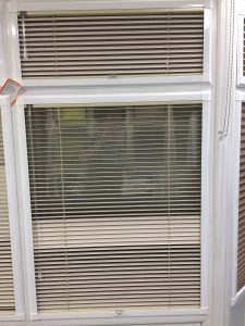 Bespoke white venetian Blinds from blind and curtain company in Tewkesbury