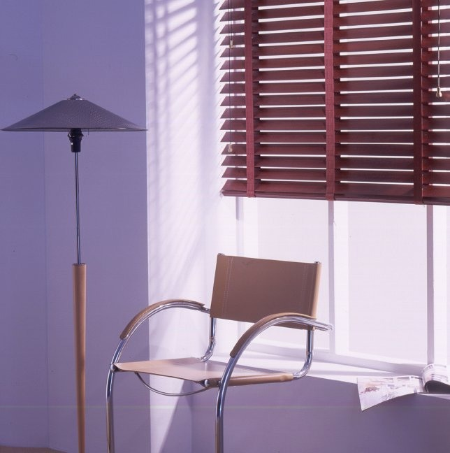 Coloured wooden venetian blinds from curtain and blind specialist in Gloucestershire