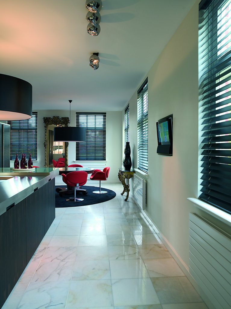 Kitchen venetian blinds from curtain and blind specialist in Gloucestershire