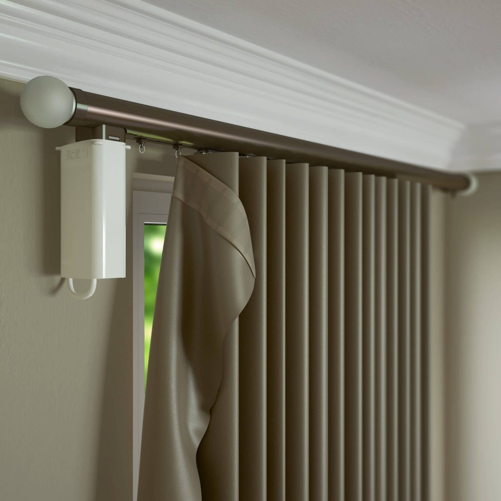 Metropole curtain pole from Tewkesbury curtain and blind company Laskey
