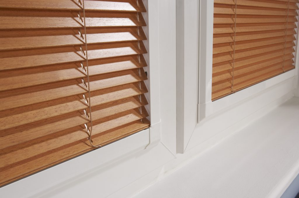 Close up of venetian blinds from curtain and blind specialist in Gloucestershire