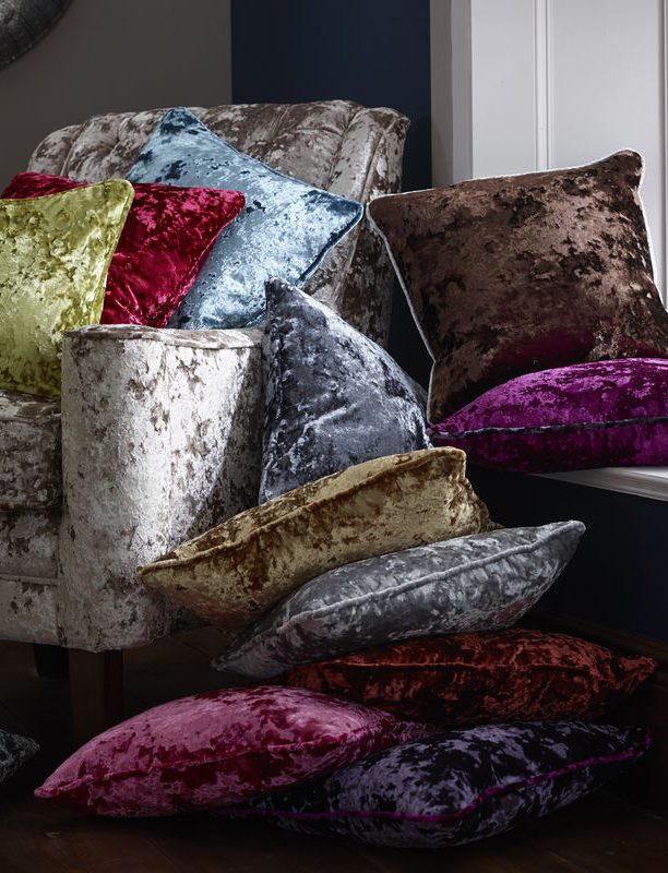 Crush fabric from Tewkesbury based blind and curtain company