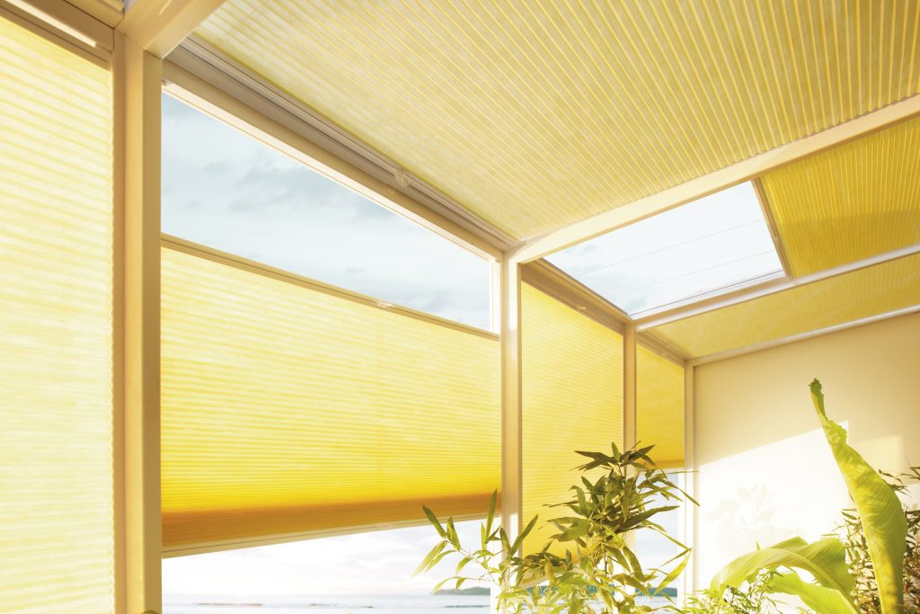 Dueete blinds in conservatory Blinds from blind company based in Gloucestershire