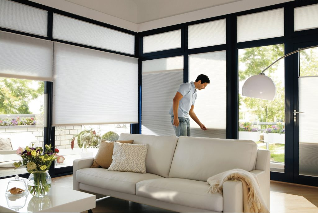 Useof Duette blinds Blinds from blind company based in Gloucestershire