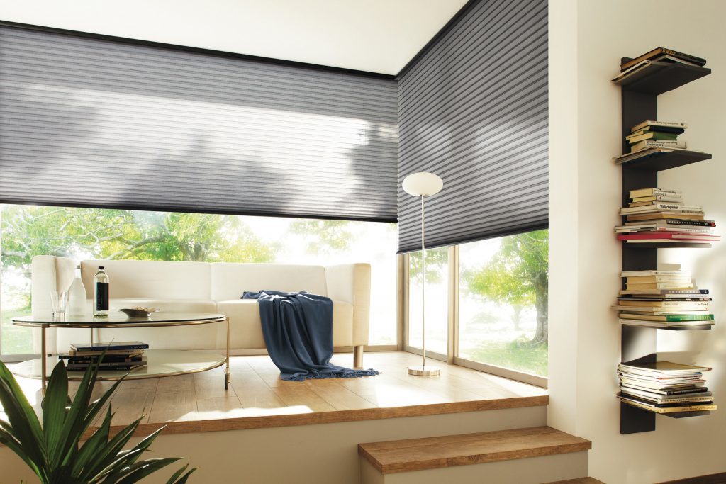 Grey Duette Blinds Blinds from blind company based in Gloucestershire