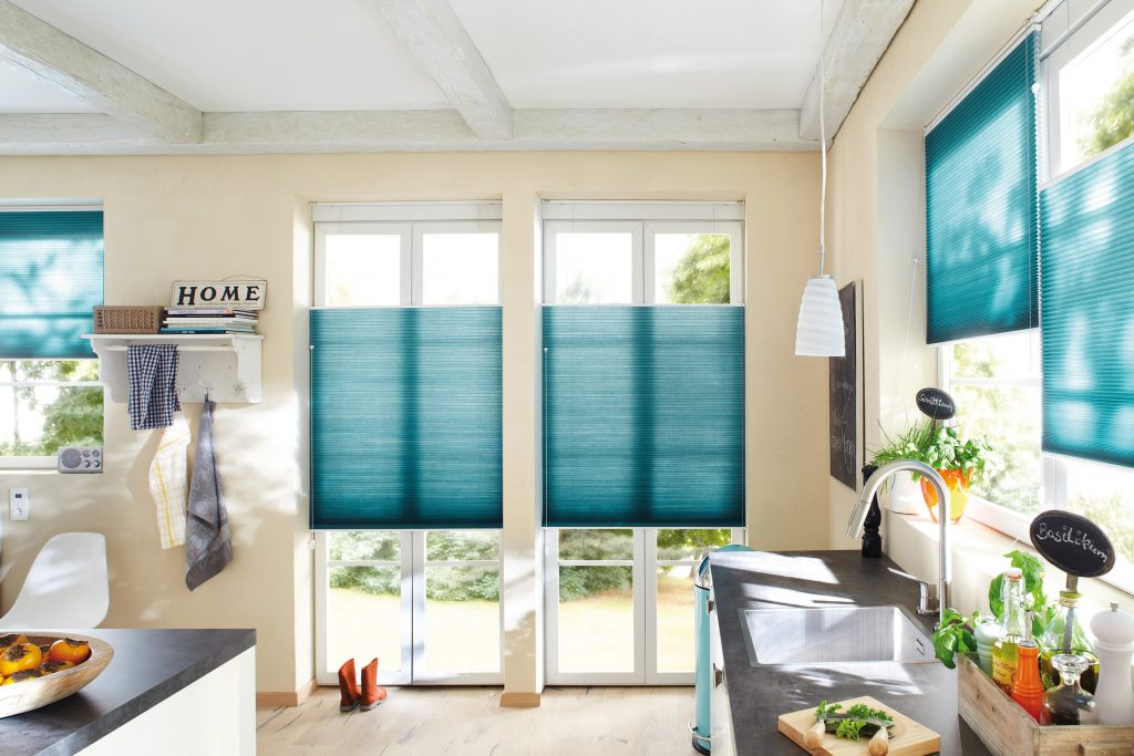 Blue Duette Blinds Blinds from blind company based in Gloucestershire