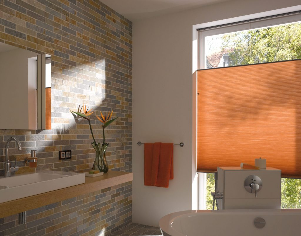 Orange Duette blinds Blinds from blind company based in Gloucestershire