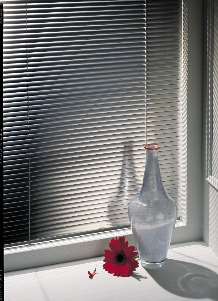 Grey venetian blinds from curtain and blind specialist in Gloucestershire