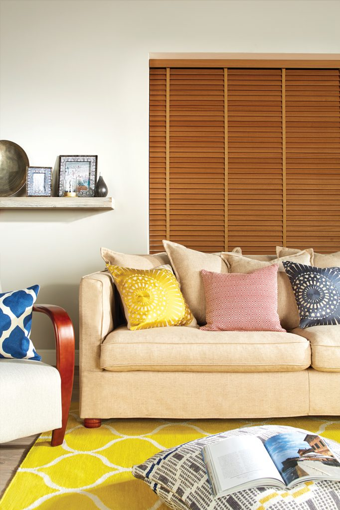 Wooden venetian blinds from curtain and blind specialist in Gloucestershire