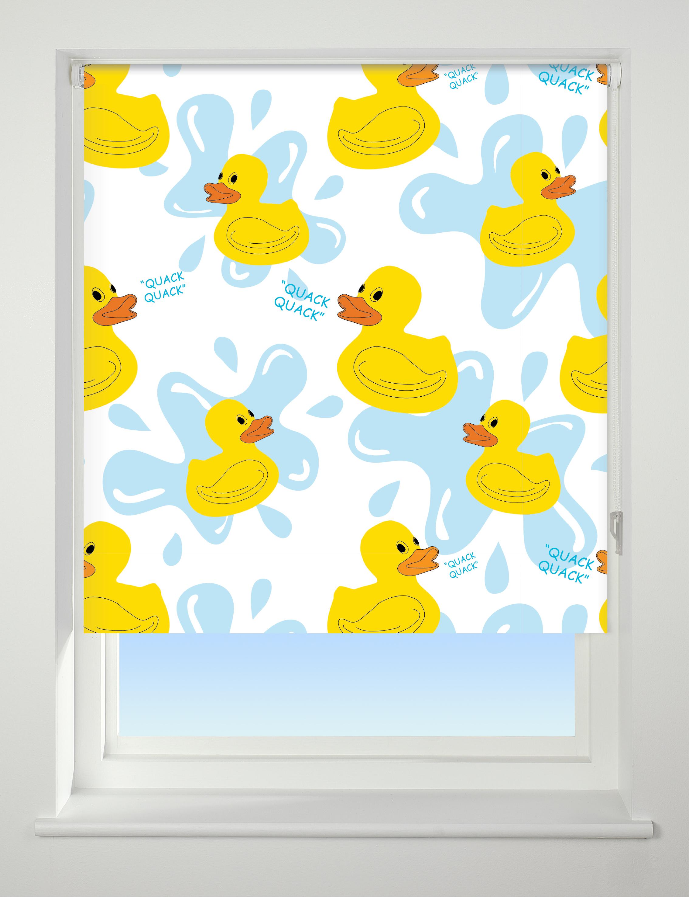 Universal Duck Blind Patterned Blackout In Window
