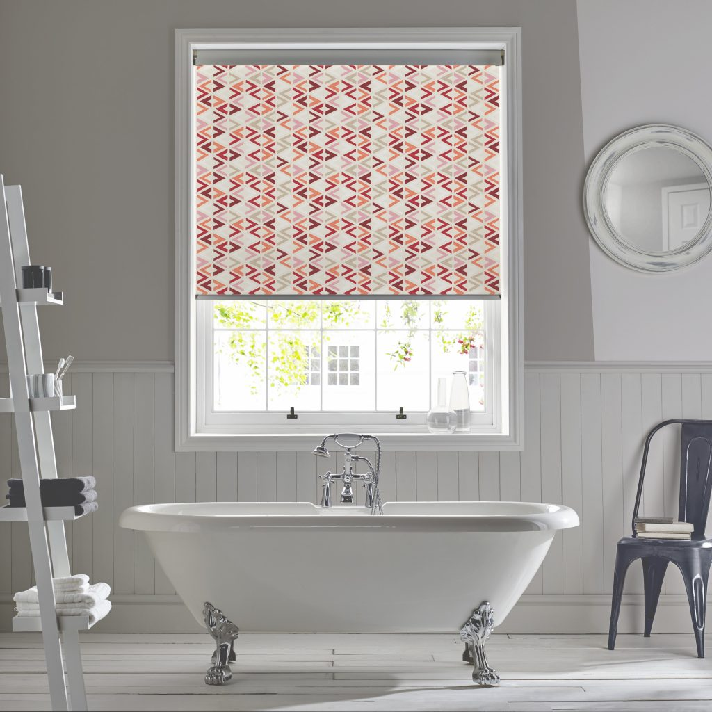 Azzura Burnt Orange Duo Blind from blind and curtain company based in Tewkesbury
