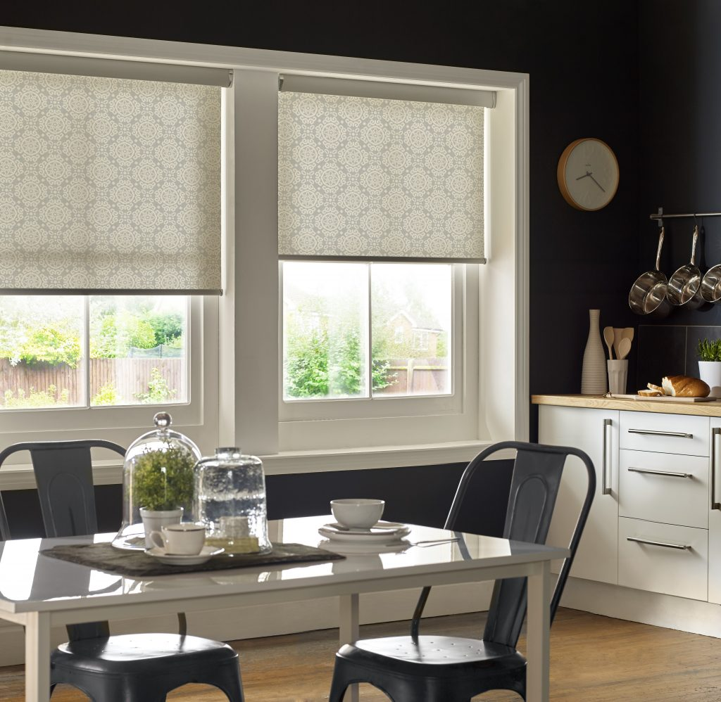 Casablanca Grey Roller Blind from blind and curtain company based in Tewkesbury