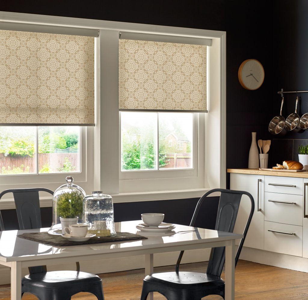 Casablanca Sand Roller Blind from blind and curtain company based in Tewkesbury