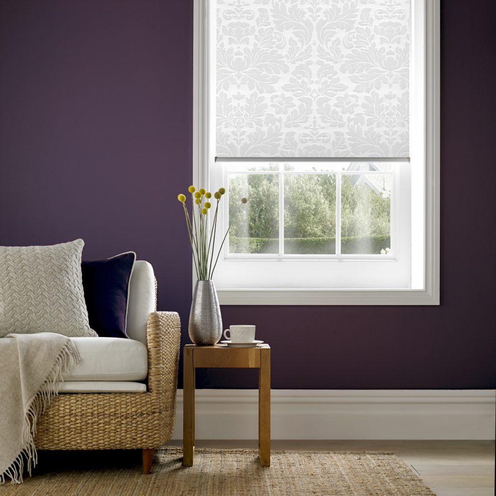 Clara Snowdrop Roller Blind from blind and curtain company based in Tewkesbury