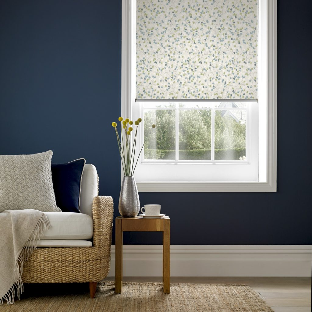 Flourish Spring Roller Blind from blind and curtain company based in Tewkesbury