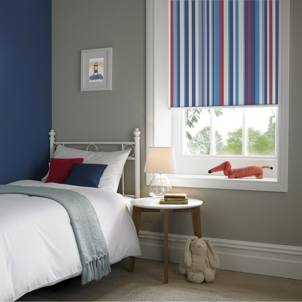 Funky Stripe Roller Blind from blind and curtain company based in Tewkesbury