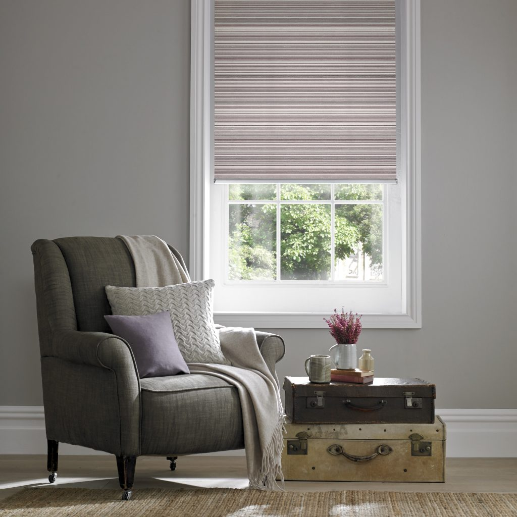 Grace Mulberry Roller Blind from blind and curtain company based in Tewkesbury