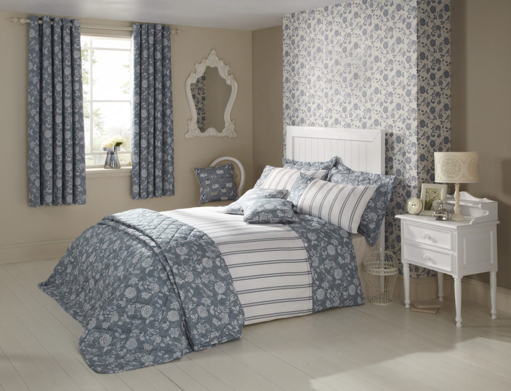 Bird Garden Scandi Fabric from curtain and blind company in Tewkesbury