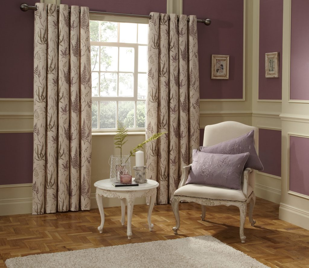 Botanica Heather Scandi Fabric from curtain and blind company in Tewkesbury