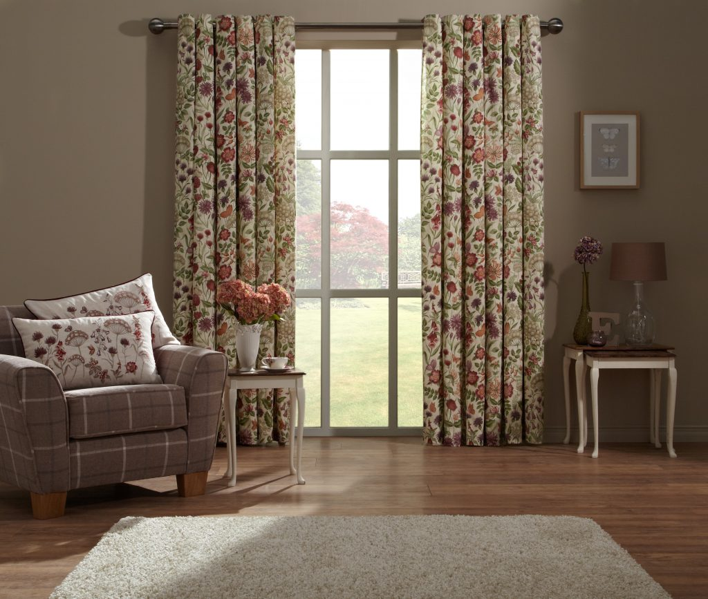 Field Flowers Scandi Fabric from curtain and blind company in Tewkesbury