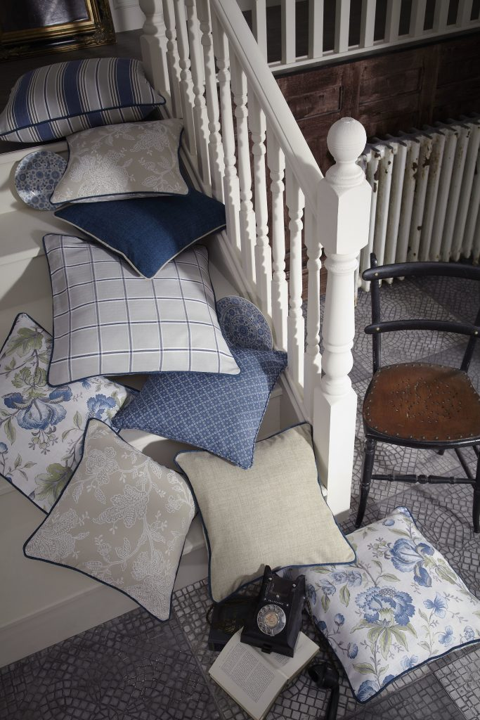Country Scandi Fabric from curtain and blind company in Tewkesbury