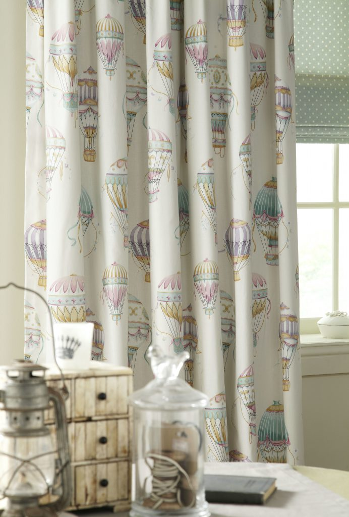 Floral Scandi Fabric from curtain and blind company in Tewkesbury