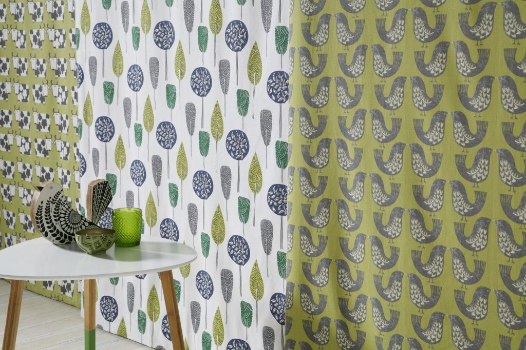 Scandi Fabric from curtain and blind company in Tewkesbury