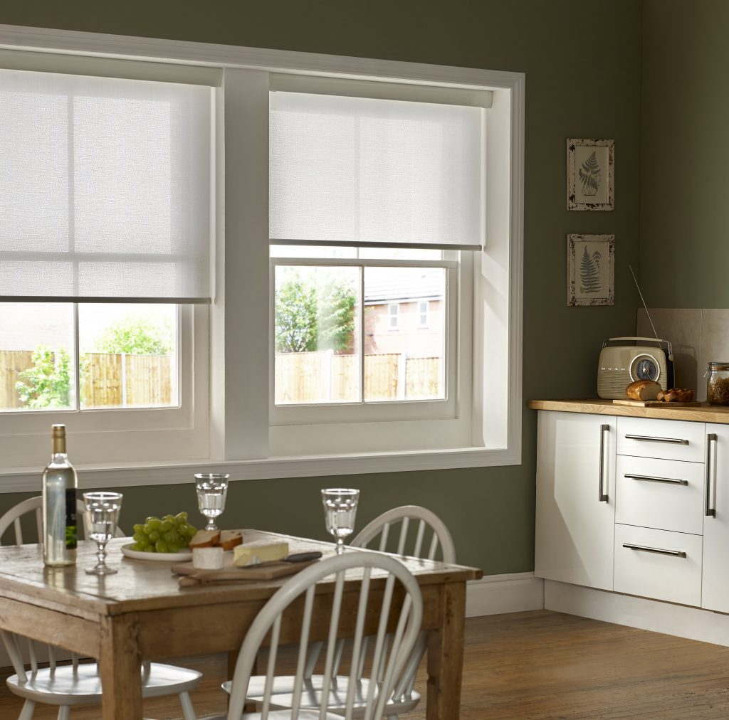 Mariella Snowdrop Roller Blind from blind and curtain company based in Tewkesbury