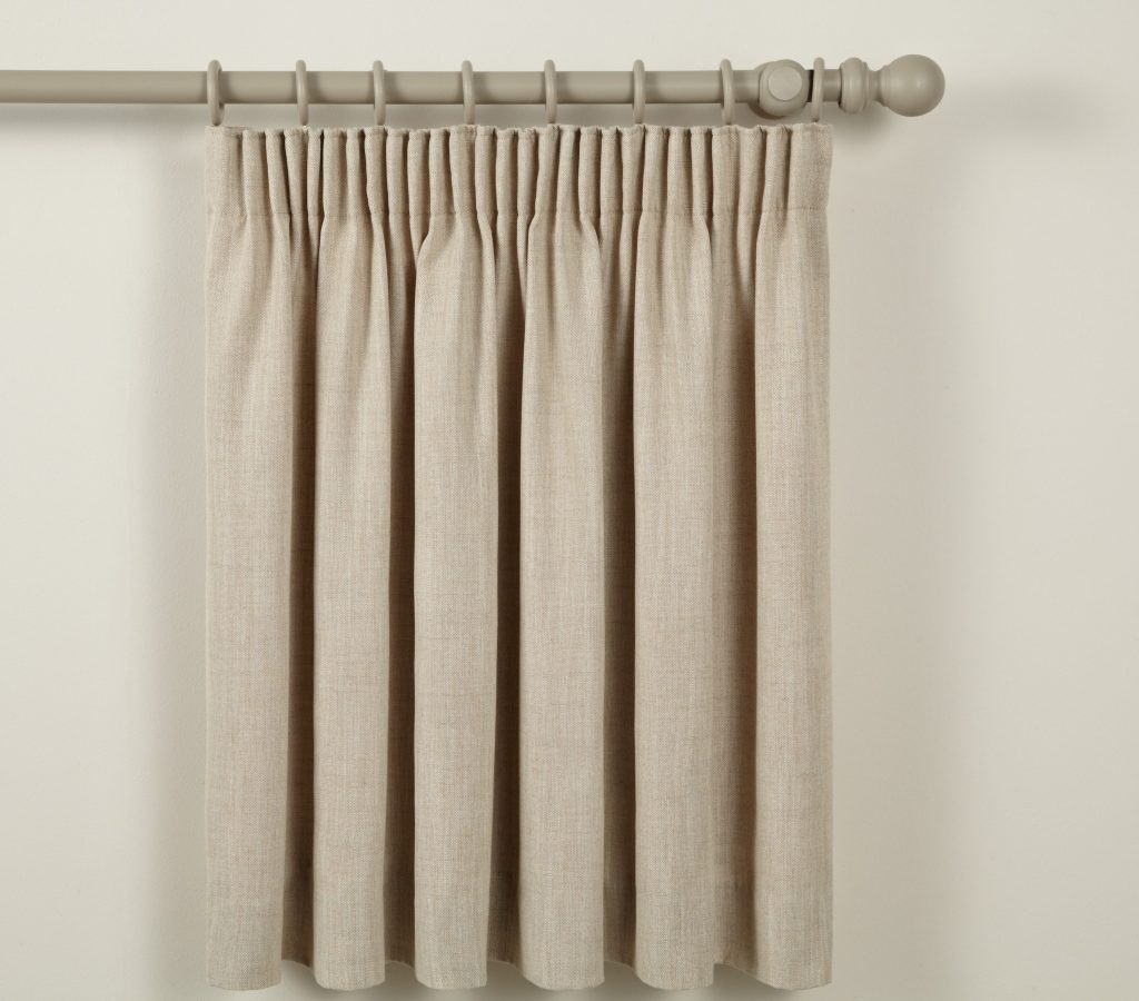 Standard Pencil Pleat by laskeys blind and curtain company