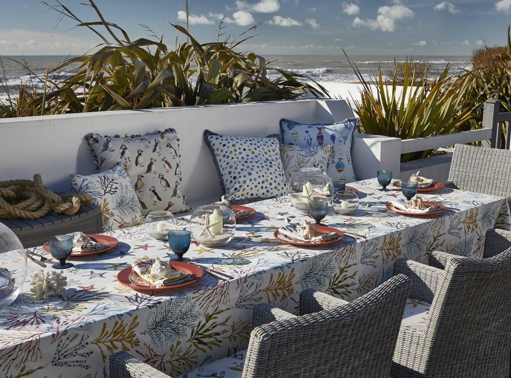 Beachcomber fabric from blind and curtain company in Gloucestershire